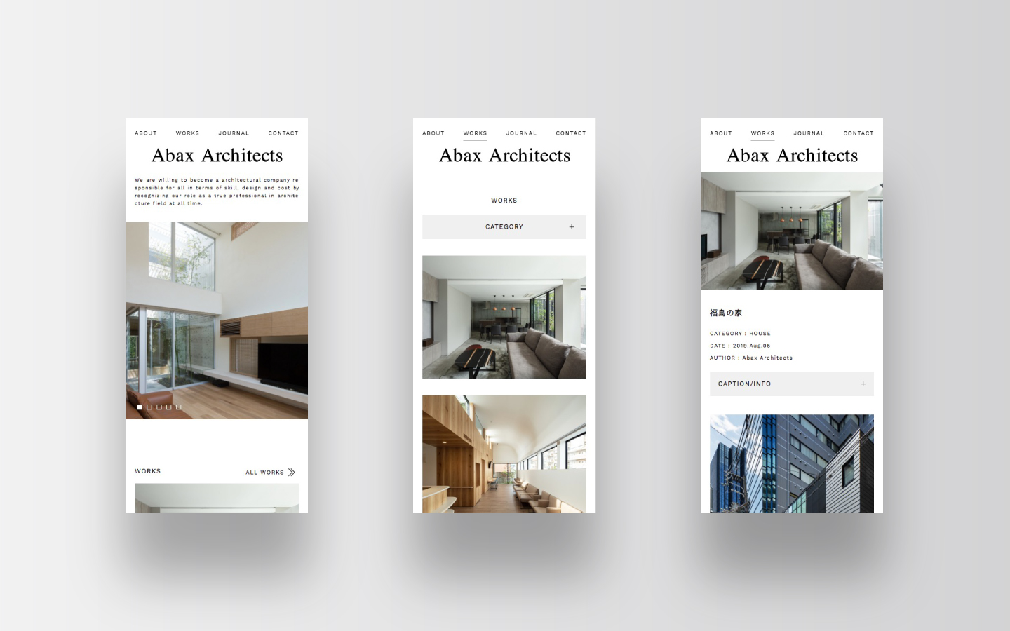Abax Architects Web Design|Smart Phone