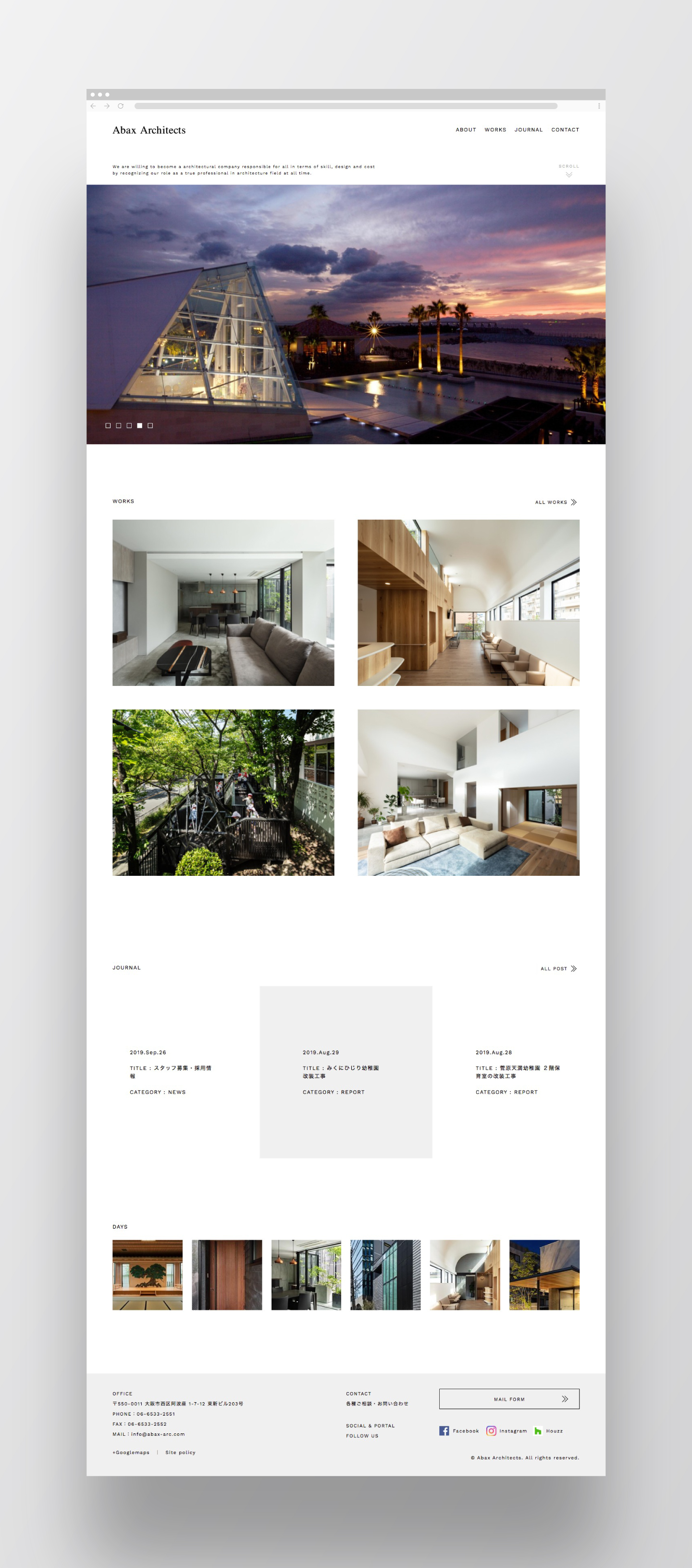 Abax Architects Web Design