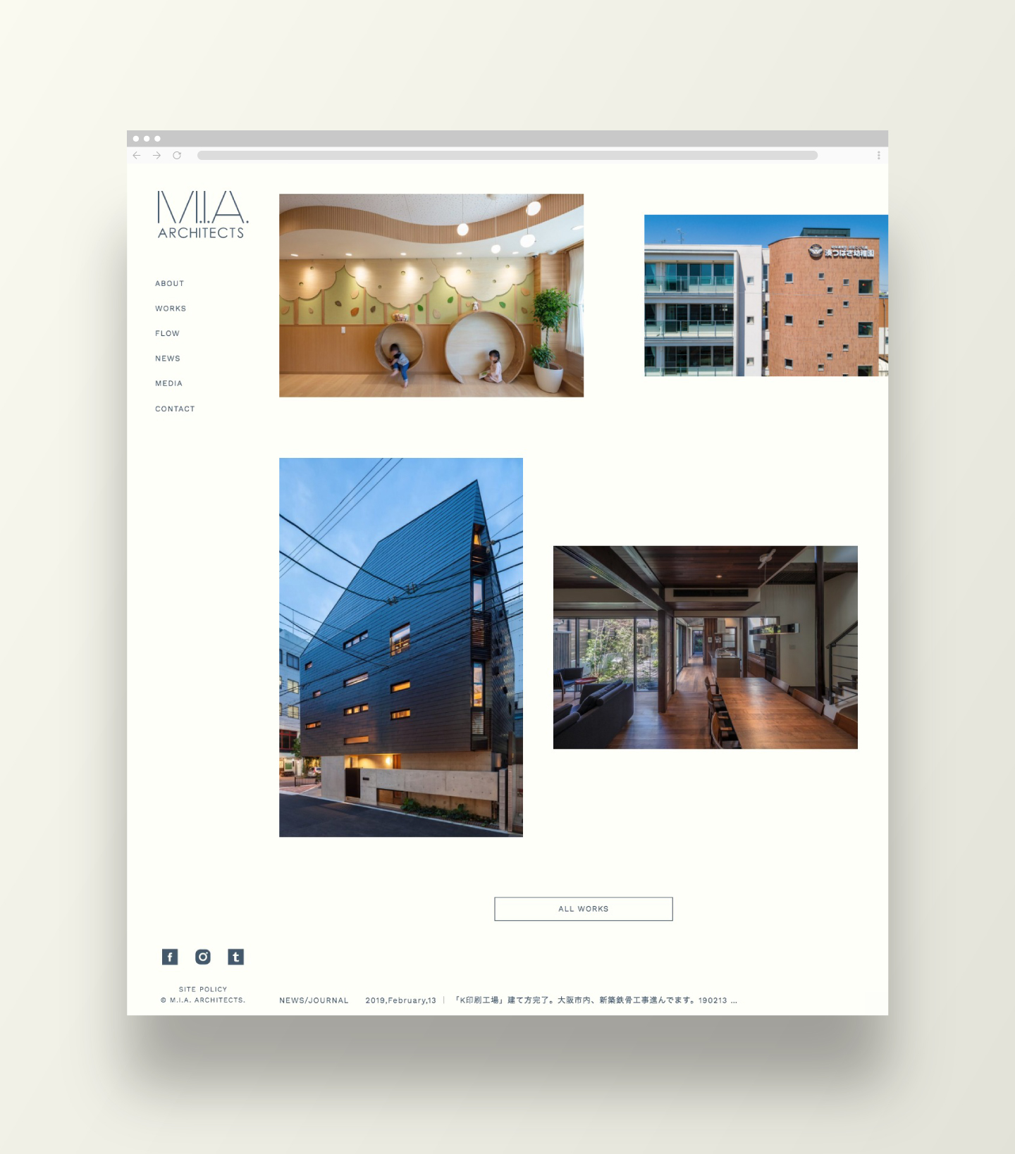 M.I.A. ARCHITECTS|Web Design